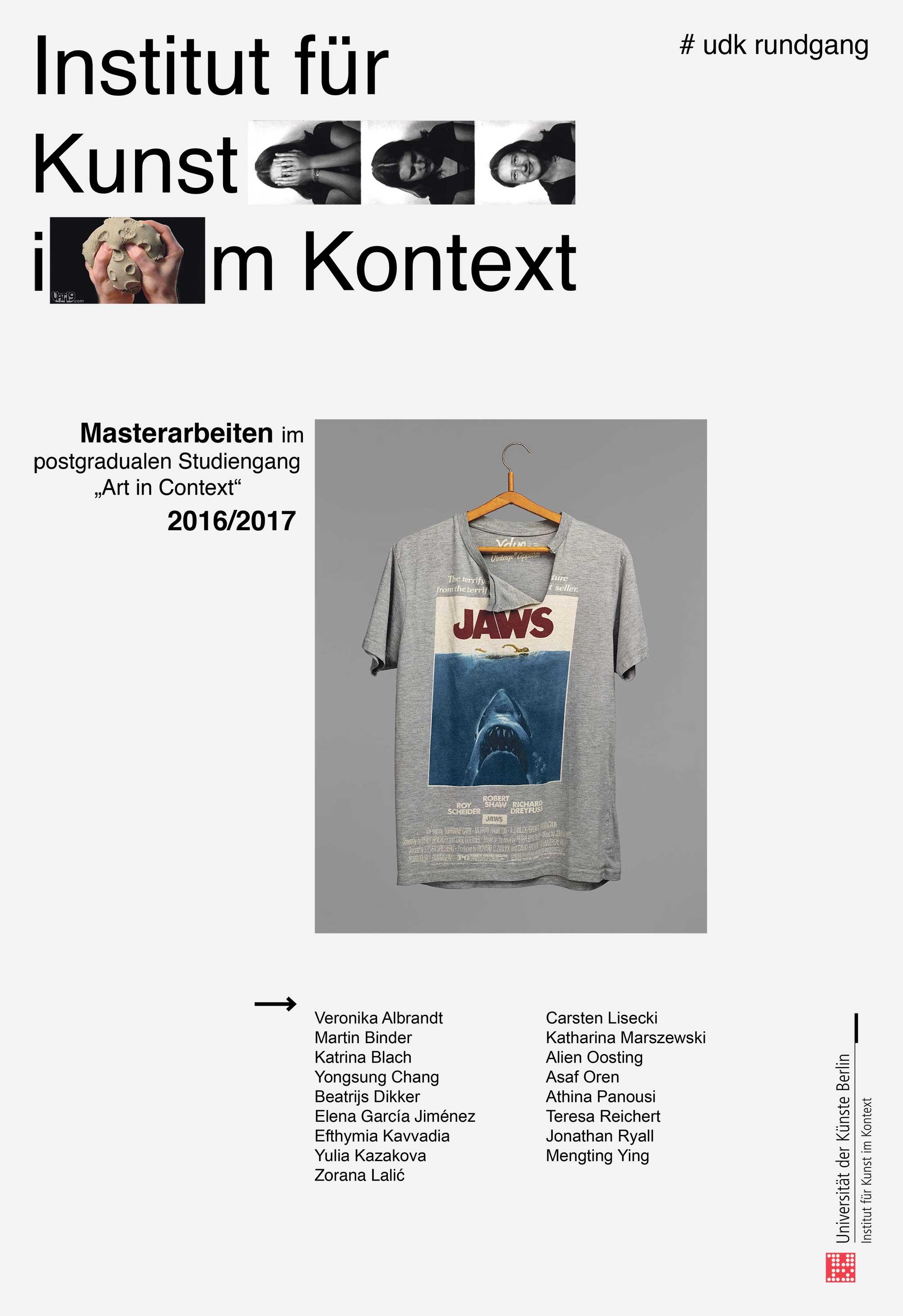 Art in Context, udk berlin, Kunst im Kontext, Masterarbeiten art in context 2017, Institut für Kunst im Kontext
