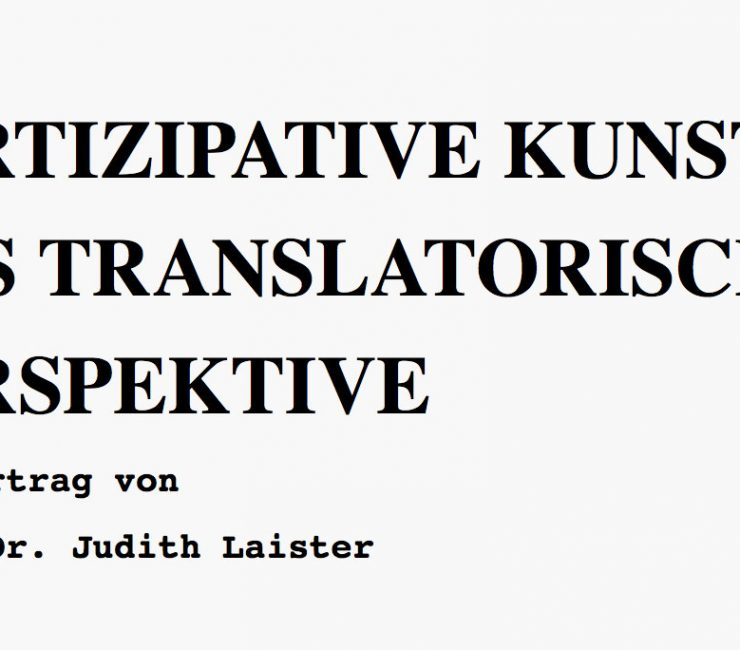 Partizipative Kunst aus Translatorischer Perspektive