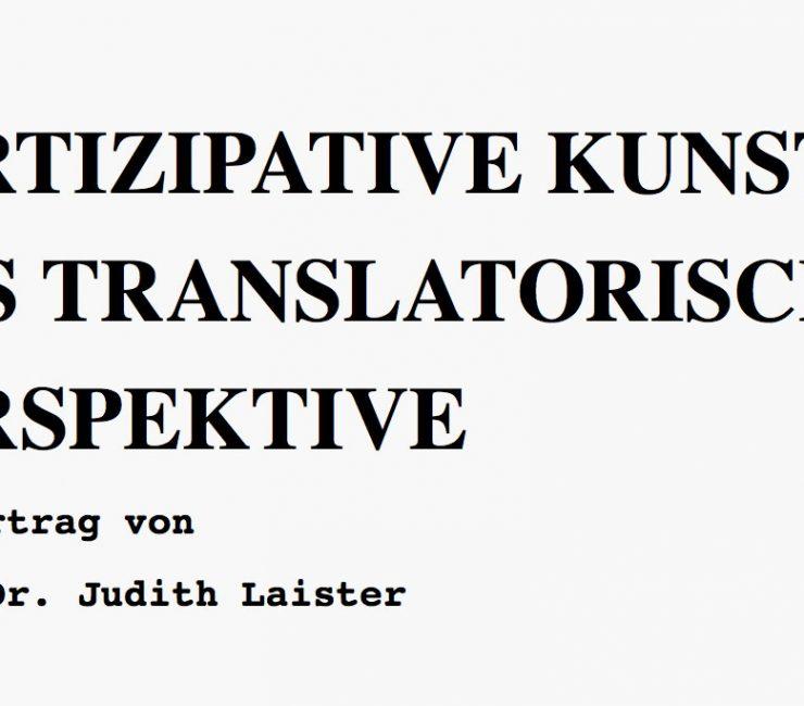 Partizipative Kunst aus Translatorischer Perspektive
